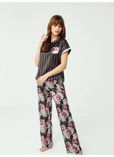 Nbb Saten Pijama Takımı 3386 Siyah